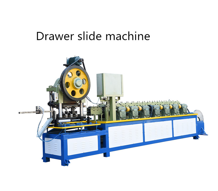 Drawer slide roll forming machine
