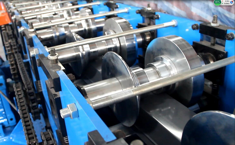Drywall profile channel roll forming machine for C Z U channel