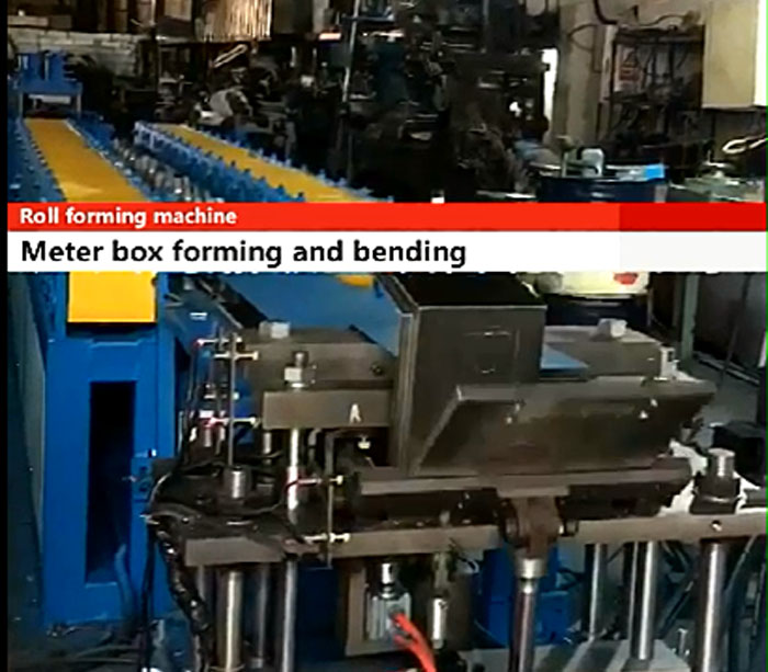 Meter box forming machine
