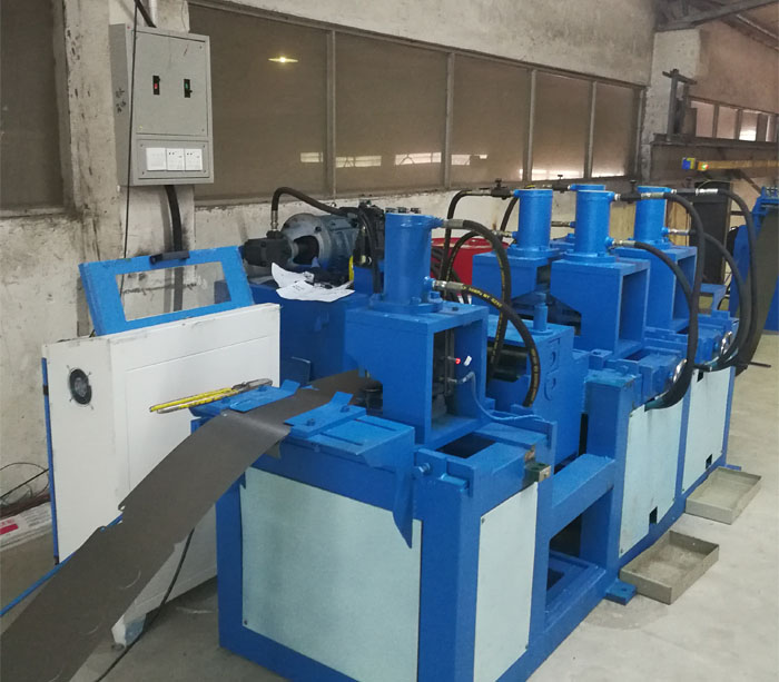 Electric meter box roll forming machine