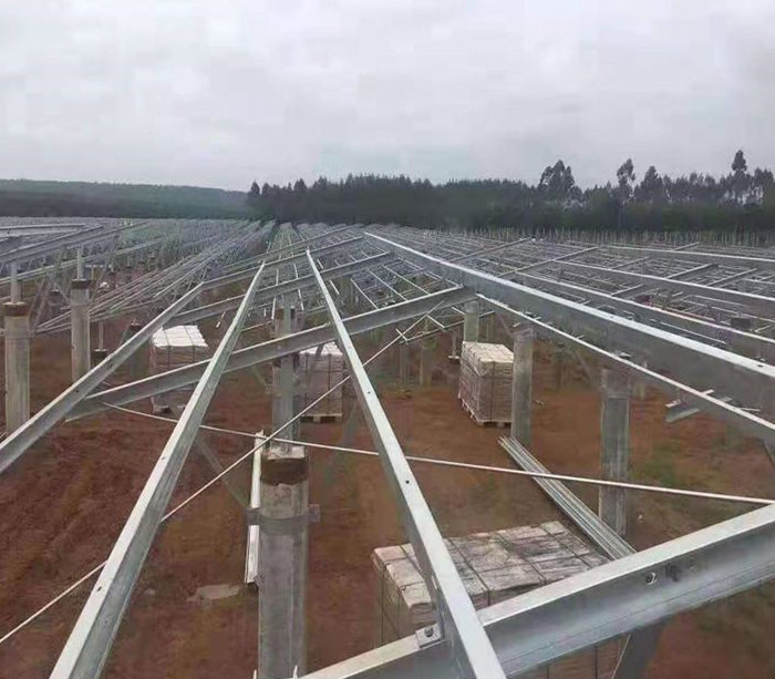 Ground Solar System PV Rack Channel Roll Forming Machine