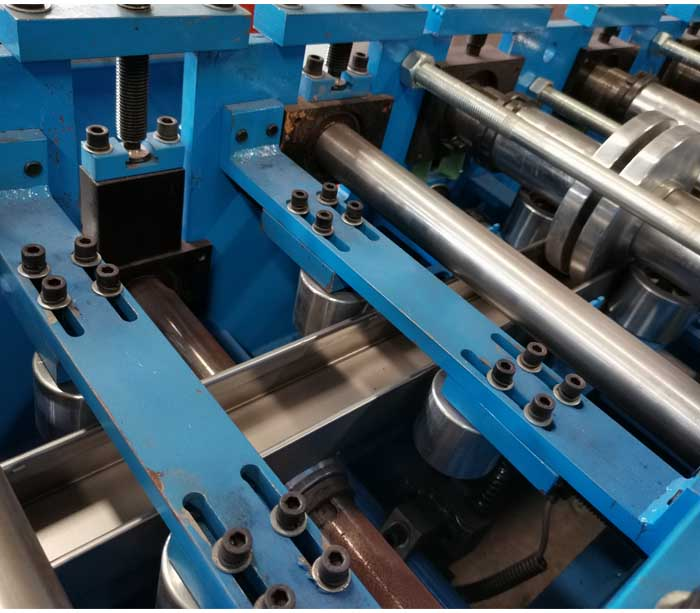 Size Adjustable CU Channel Roll Forming Machine Export