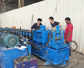 Power distribution box roll forming machine is ready to India
