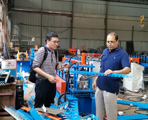 Metal frame machine making profiles ventilation and quality is very good