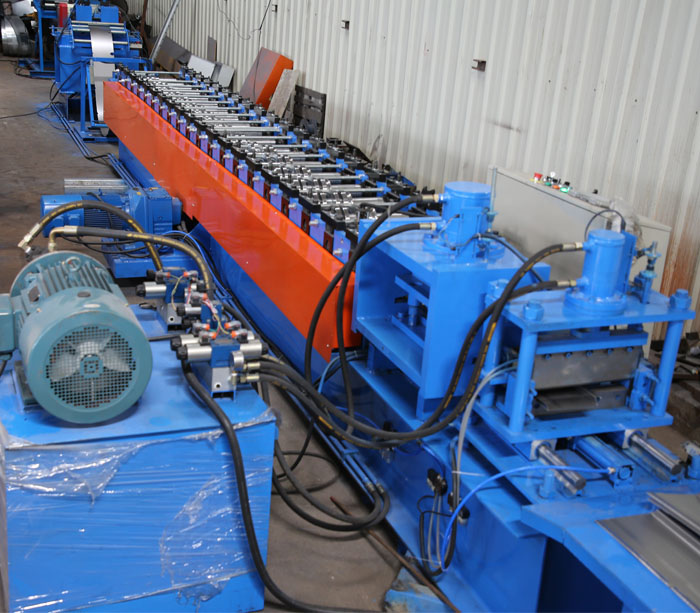 Electrical cabinet enclosure roll forming machine