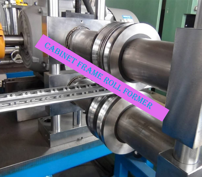 Customized design electrical cabinet frame roll forming machine with welding