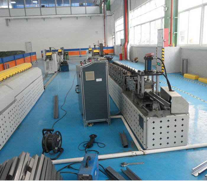 Channel roll former top hat purlin forming machine supplier
