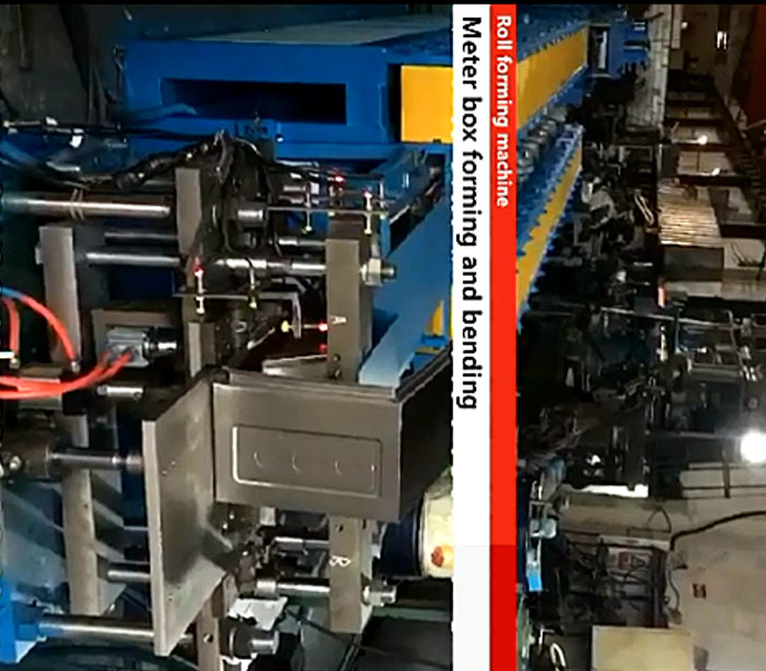 Automatic fire hose box roll forming machine