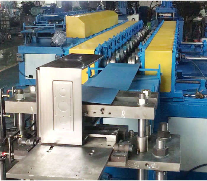 Wall mounted steel enclosure production line