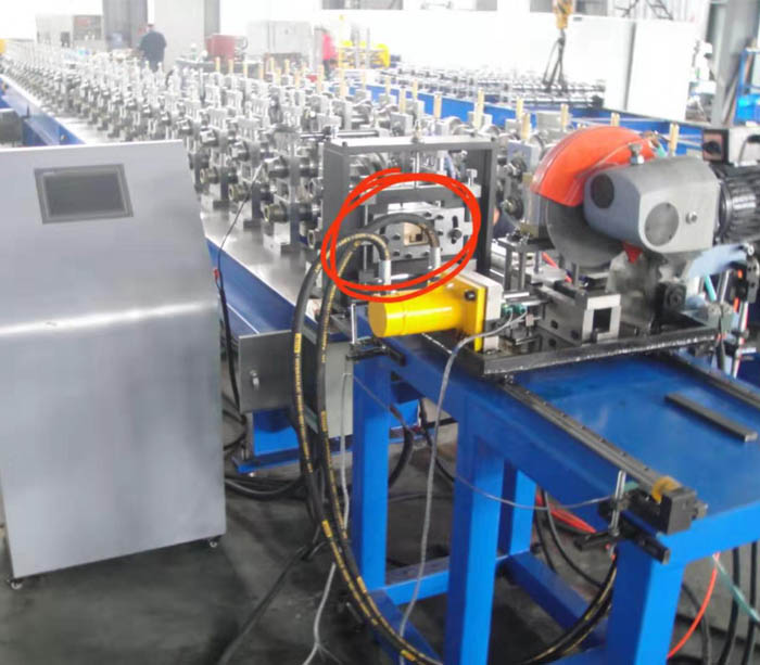 Electrical Cabinet 9 Fold Profiles Roll Forming Machine