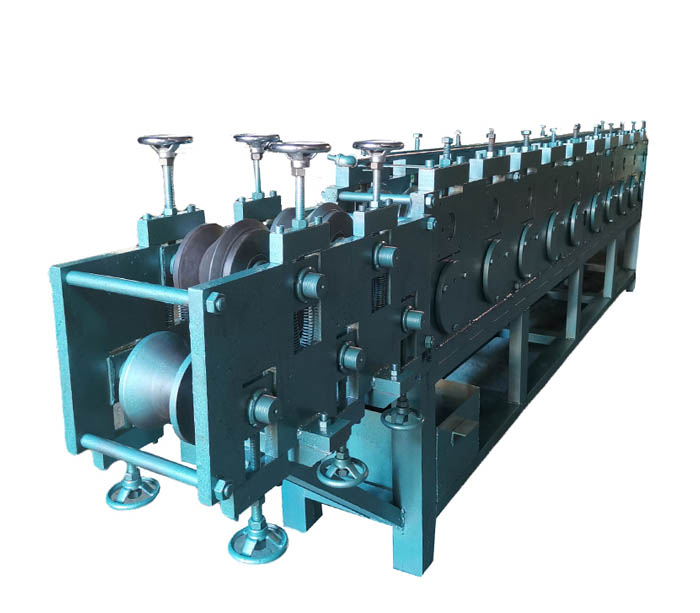 Stainless steel door frame tube roll forming machine