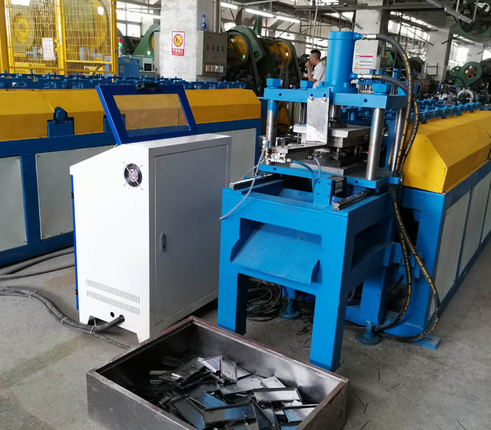 Steel roll forming machine for multimedia wall box panel